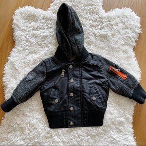 Urban Republic kids baby bomber jacket size 12M